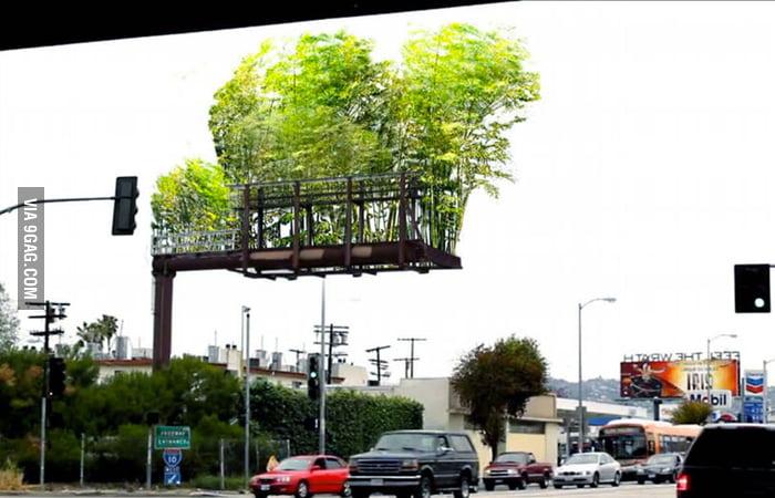 A good use of billboards in Los Angeles freeways.