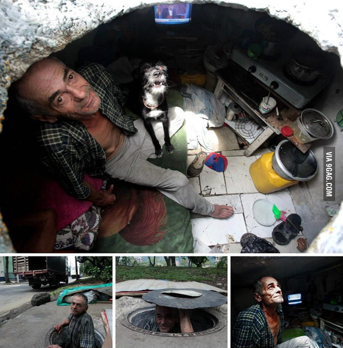 This man is underground, literally.