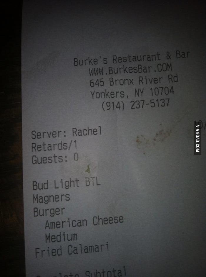 Got this receipt at a local bar