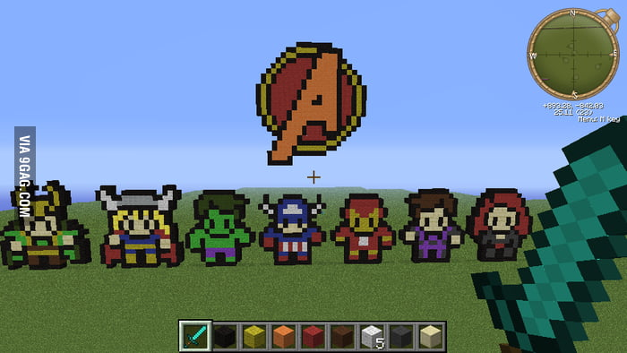 Minecraft Avengers!