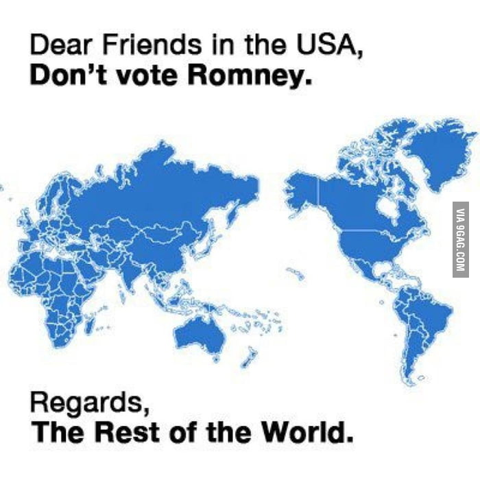 Sincerely, the rest of the world