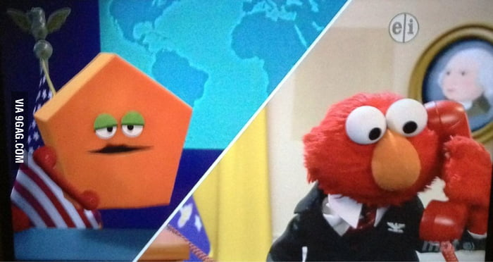 President Elmo is on the phone with the Pentagon.