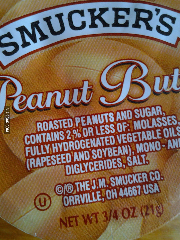 There's what in my peanut butter?