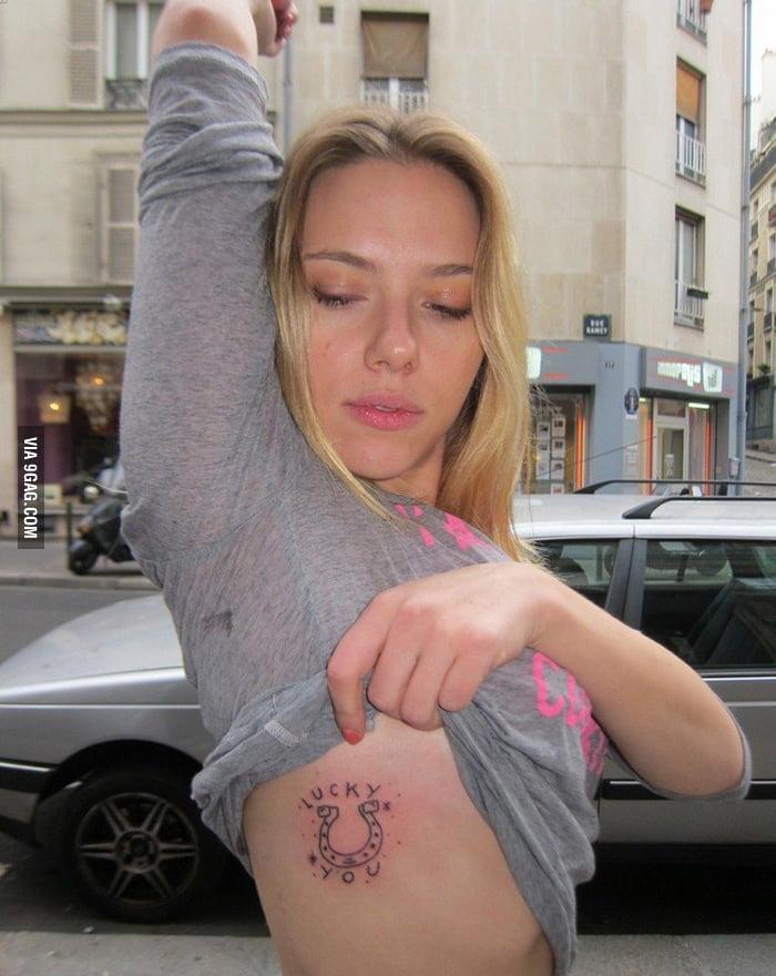 Scarlett Johansson's new tattoo: Lucky You