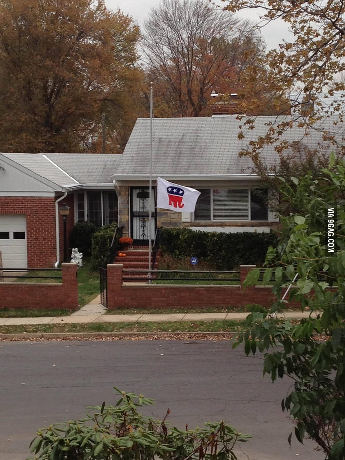 My neighbors are taking the election result especially hard.