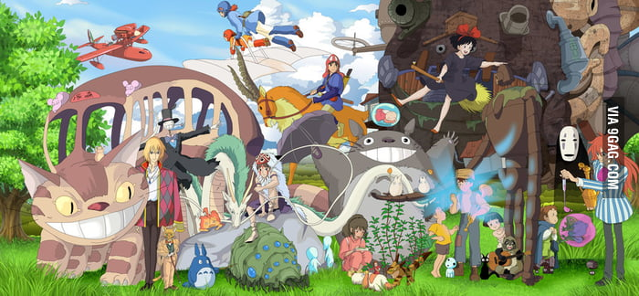 The world of Miyazaki in one picture.