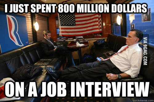 Mitt Romney got the most expensive job interview.