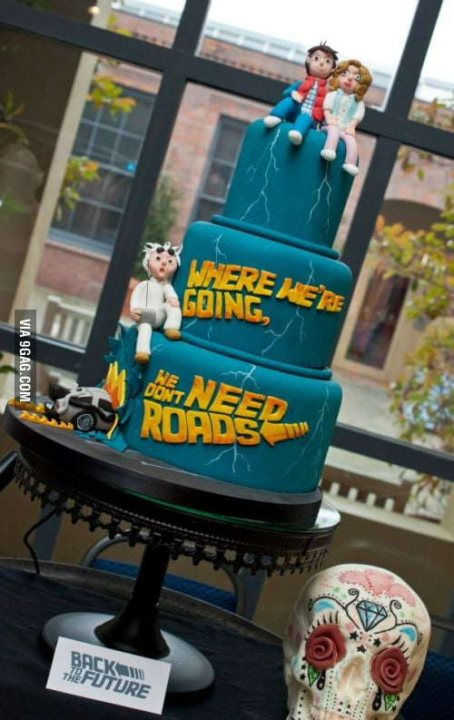 "Sweet ""Back to the Future"" Wedding Cake"