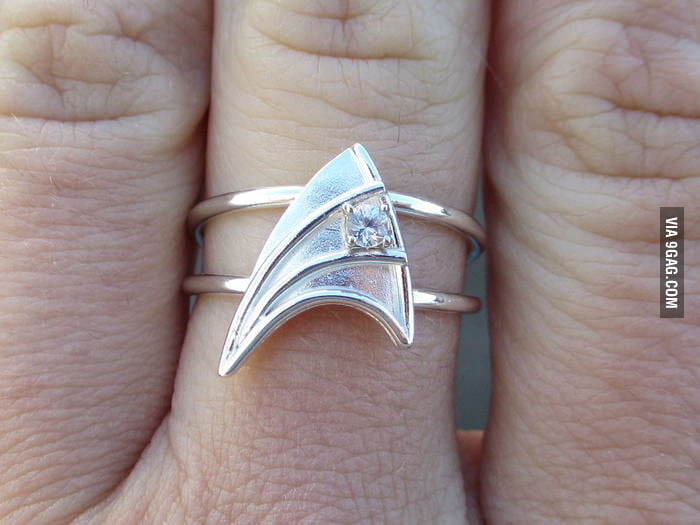Got this Star Trek engagement ring.
