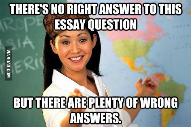 My teacher always says this.