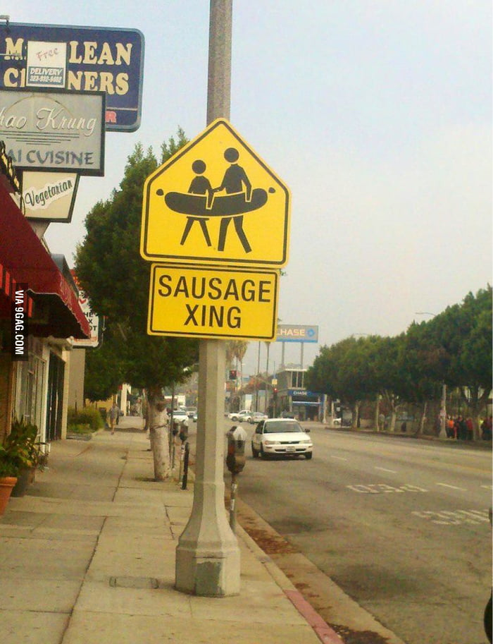 Funny road sign in Los Angeles