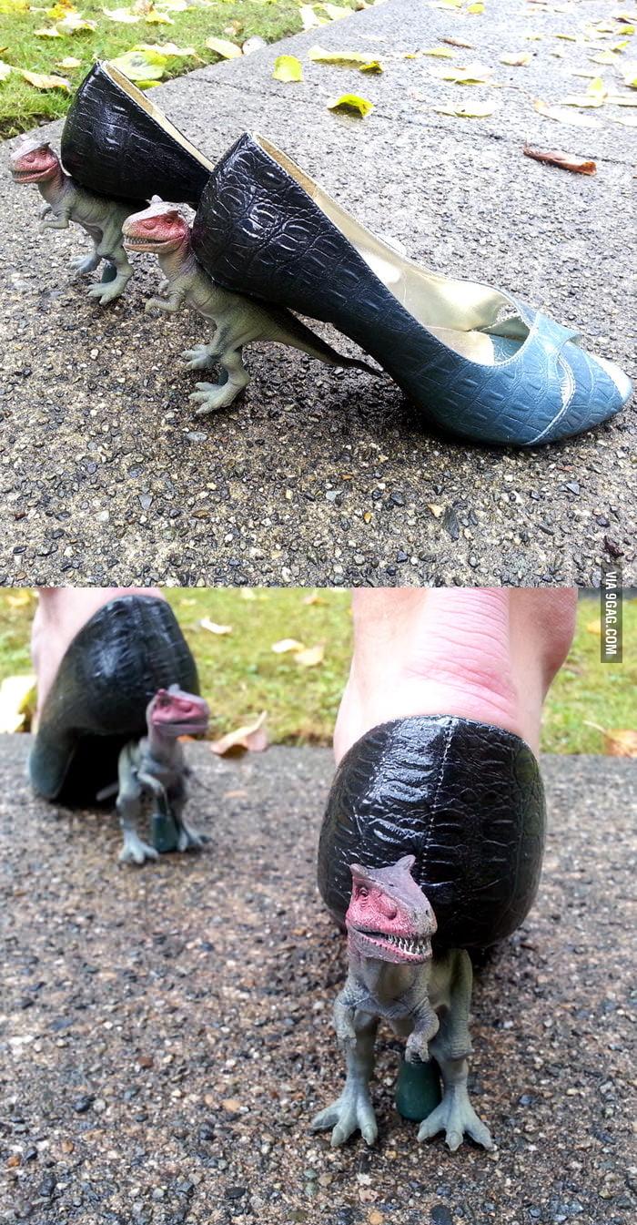 DIY T-Rex Heels