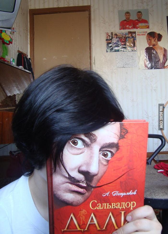 Face of Salvador Dali