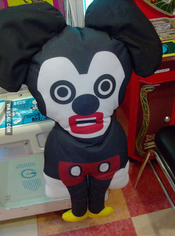 Mickey Mouse in Japan looks a bit different.
