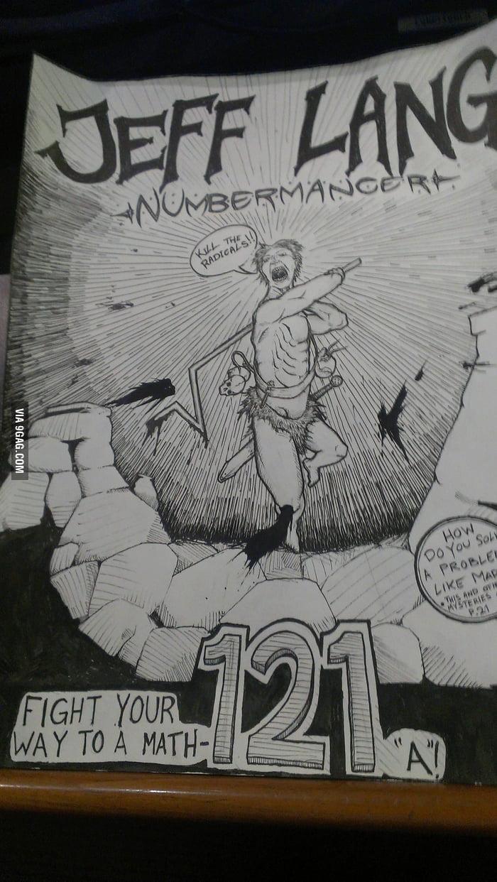 How my classmate drew our maths teacher.