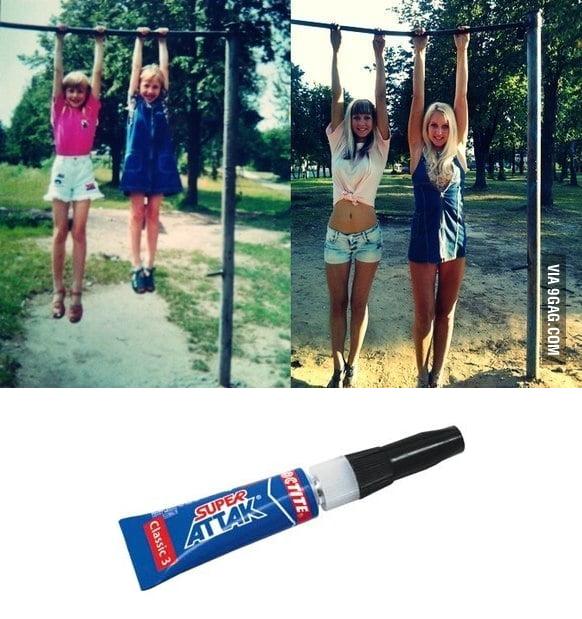 Don't joke with super glue...