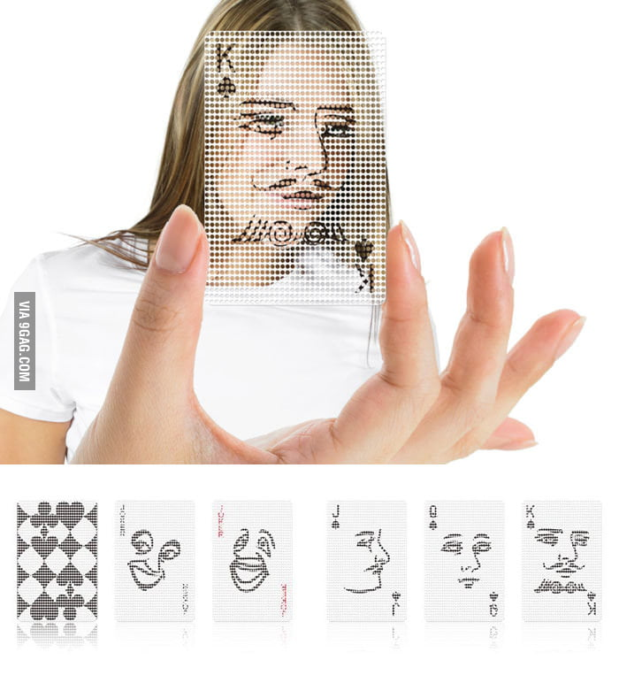 See Through Poker Face Cards