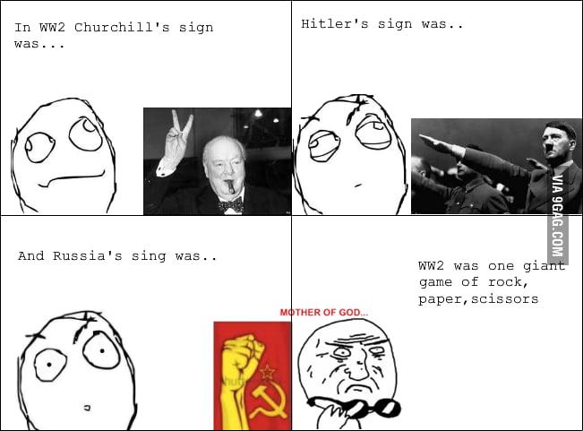 A sudden realization of World War Two.