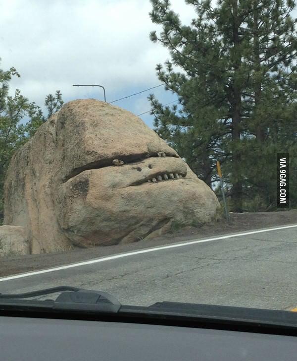 Saw these rocks on my way work today.