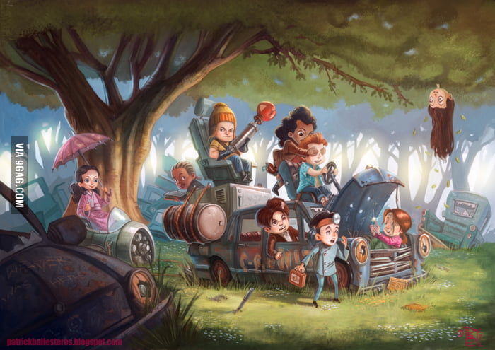Firefly characters re-imagined as children.