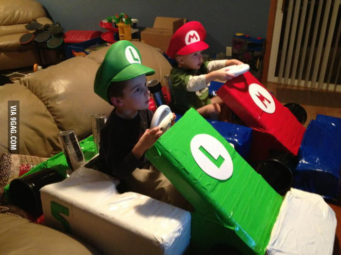 Sweet way to play Mario Kart.