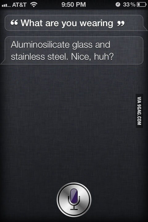 Siri flirting around.