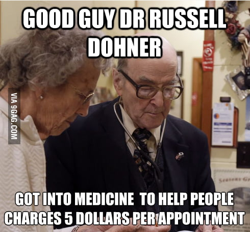 Faith in humanity restored - Dr Russell Dohner of IL