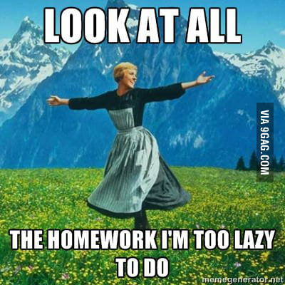 My life as a student.
