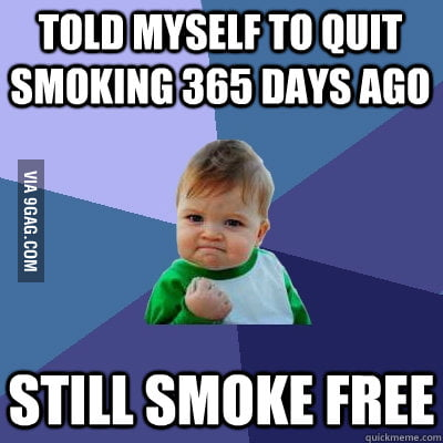 Smokers know this is a true milestone.