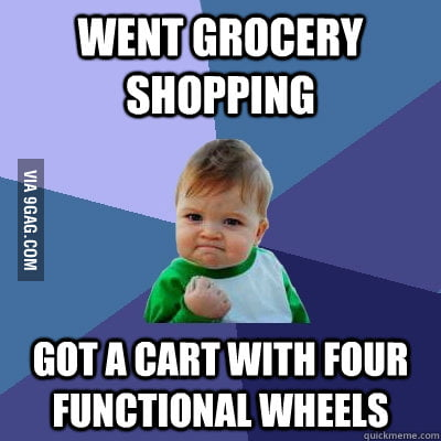 This is a success in grocery shopping.