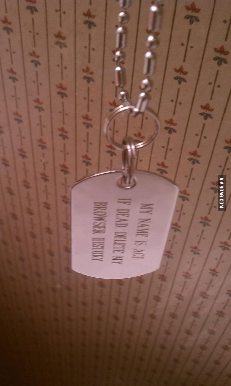 Found this hanging in my boyfriend's bathroom.