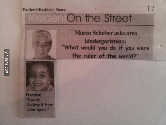What would you do if you were the ruler of the world?