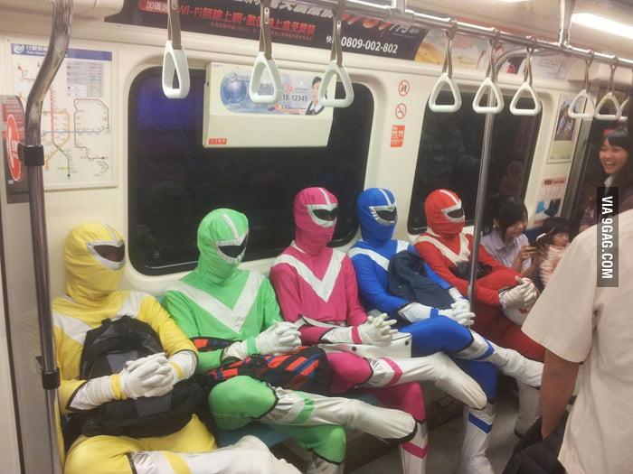 On the metro in Taiwan