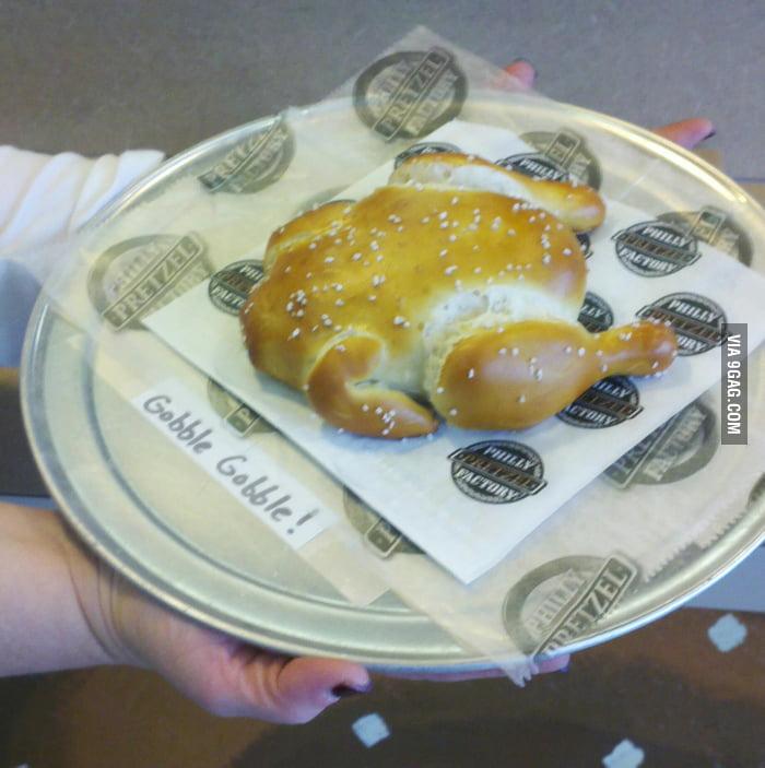 Awesome Turkey-Shaped Pretzel!
