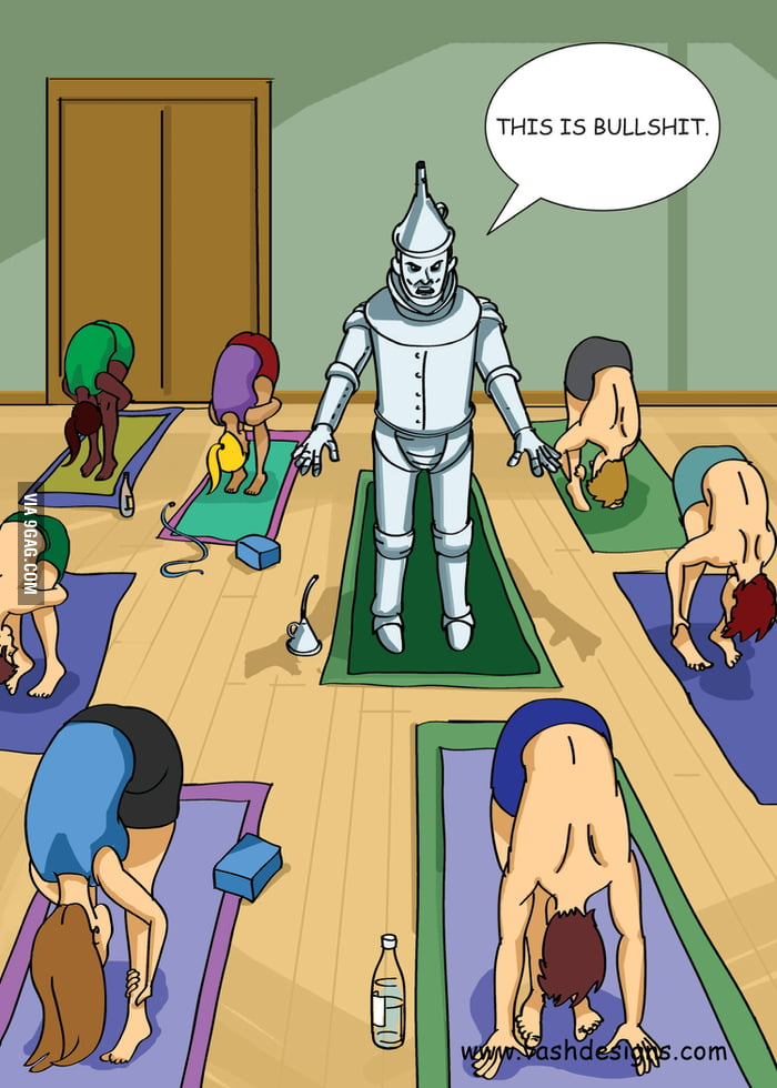 How everyone feels the first day of yoga.
