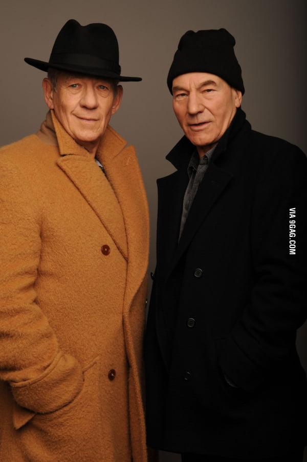 Just 2 old guys: Ian Mckellan & Patrick Stewart