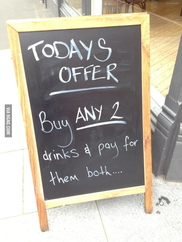 A sign outside a local bar