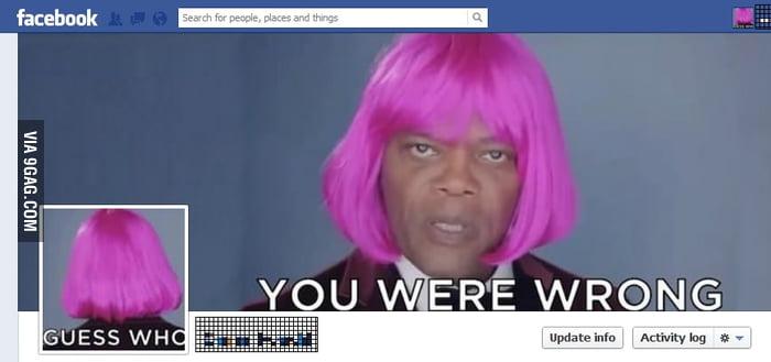 I love my friend's Samuel L. Jackson Facebook profile.