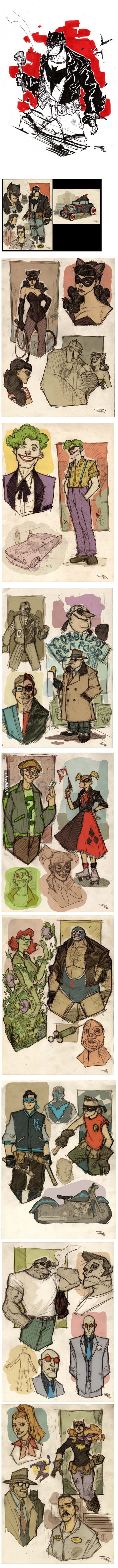 Batman and Co 50s Rockabilly Re-Design