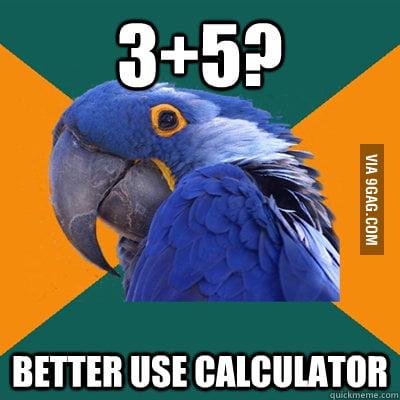 Always on math tests