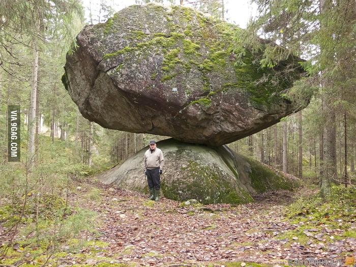 A strange stone in Finland.