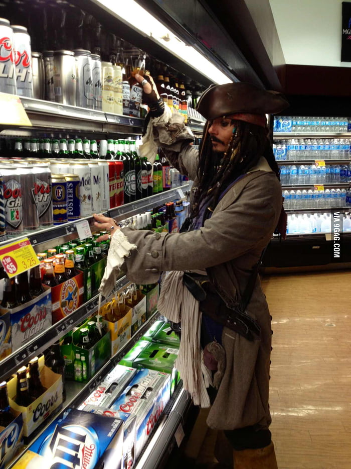 Getting beer in Vegas and came across Captain Jack Sparrow.