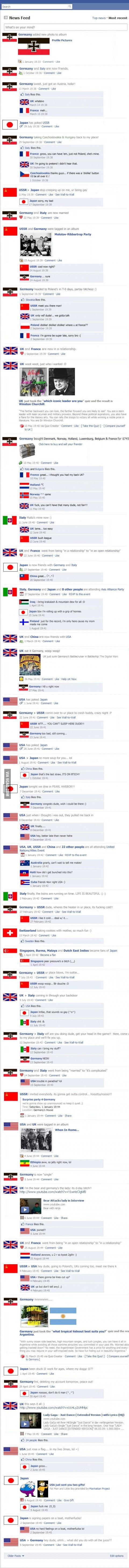 World War Two: Facebook Version.
