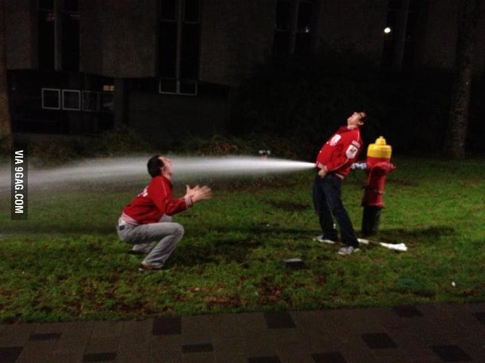 We found a fire hydrant last night.
