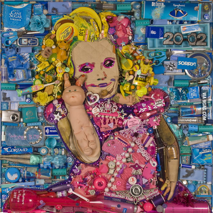 Honey Boo Boo, rendered in trash.