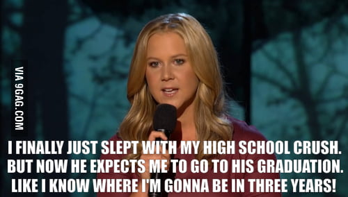 Amy Schumer's sex joke.