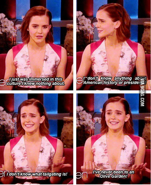 Emma Watson on America.