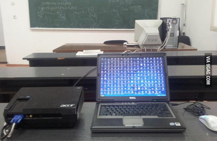 My teacher's desktop