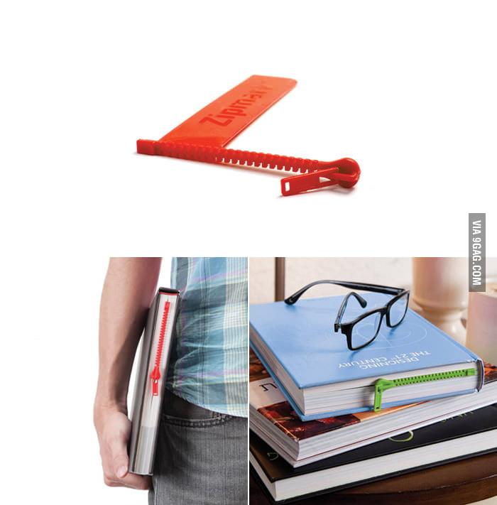 Zipmark - A zipper bookmark