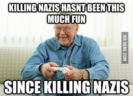 "Playing ""World at War"" with my grandpa."